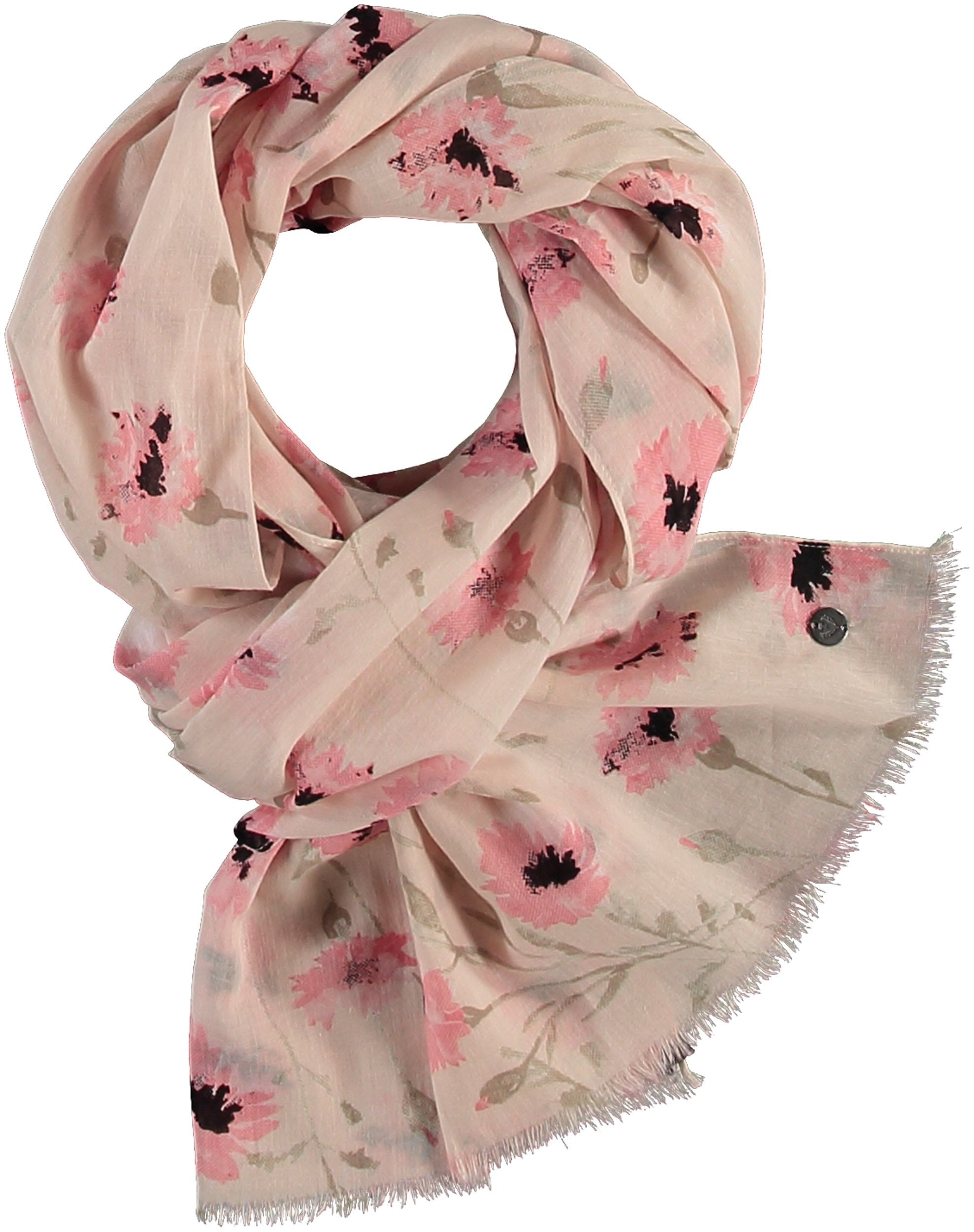Wild Flower Cotton Print Scarf