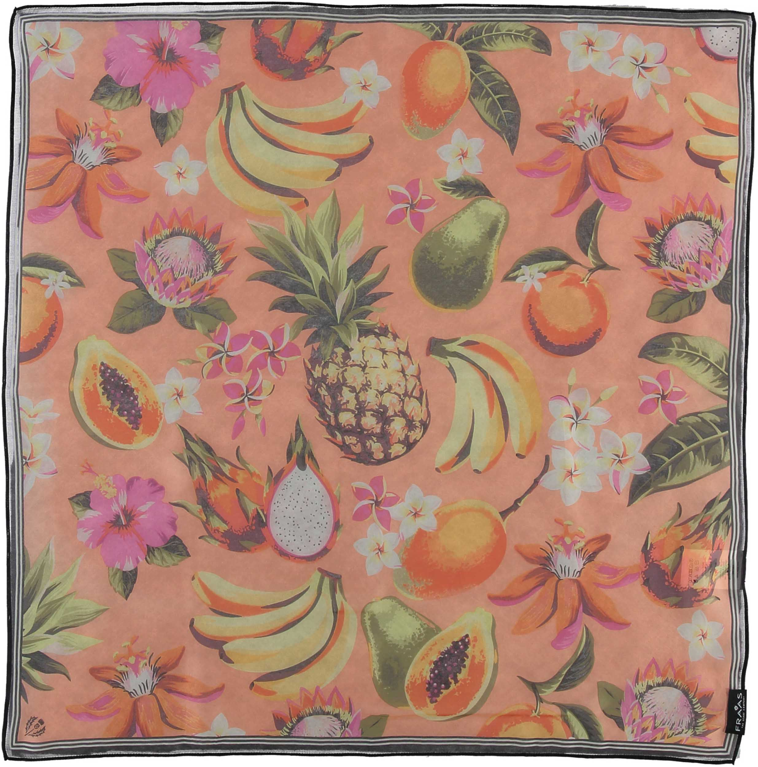 Tropical Delight Silk Chiffon Printed Square