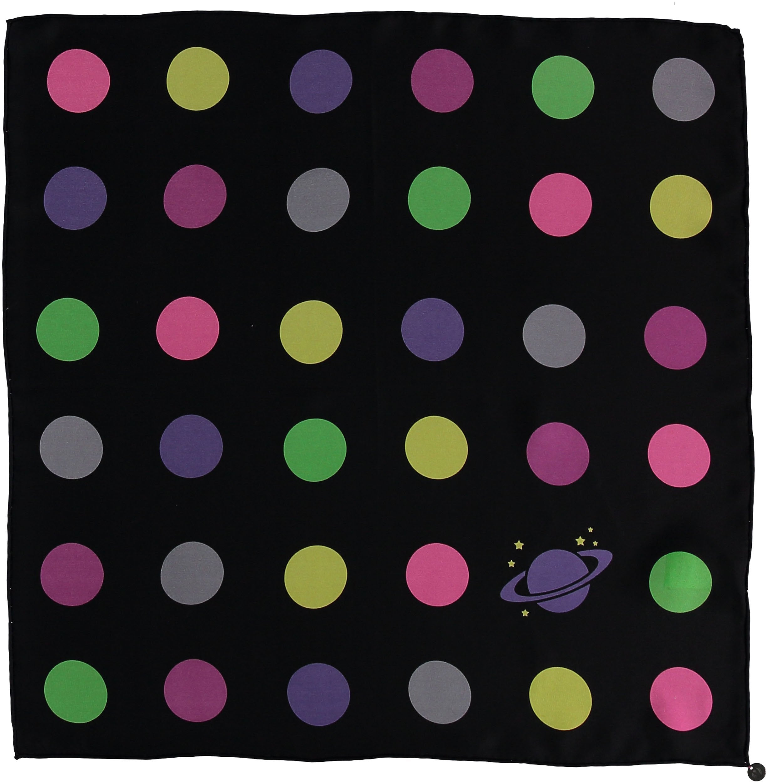 Galaxy Dots Silk Square Printed Neckie
