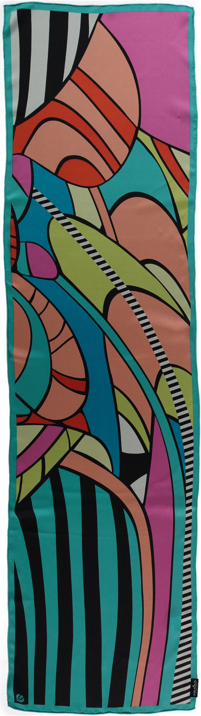 Art Deco Silk Printed Scarf