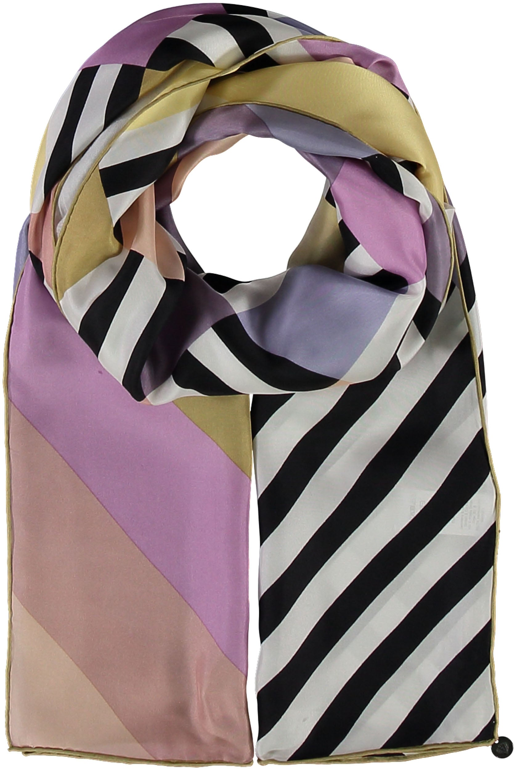Graphic Diamonds Silk Printed Scarf