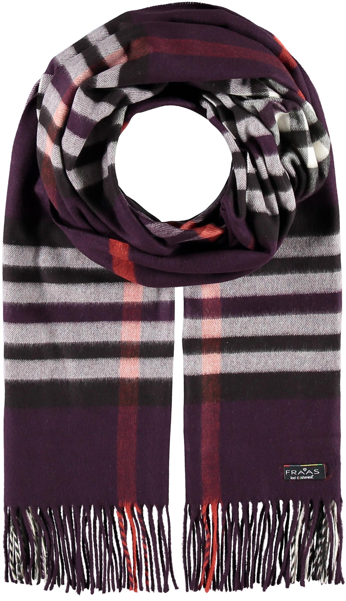 Oversized Cashmink® Exploded FRAAS Plaid Wrap