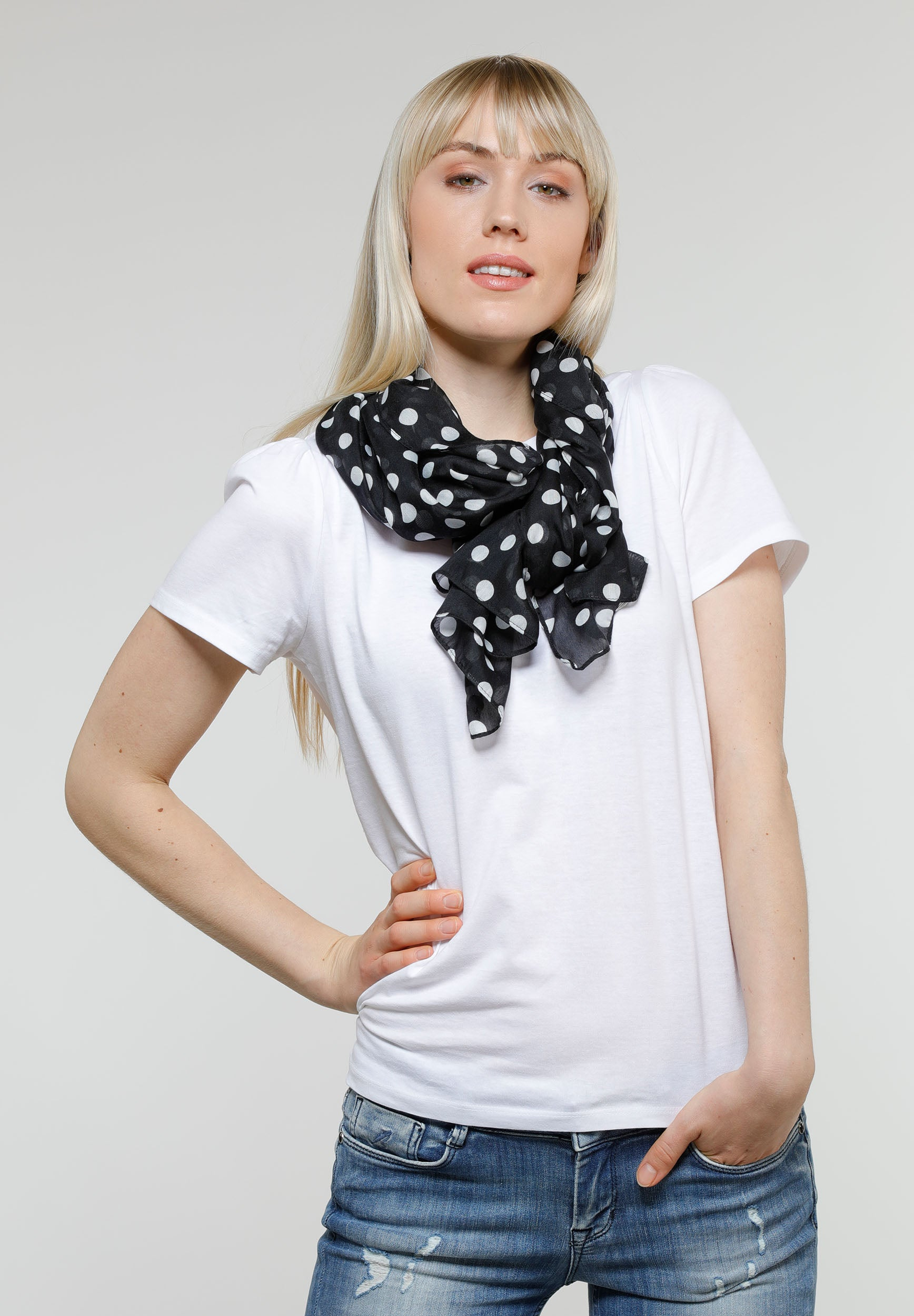 Dots Polyester Print Scarf