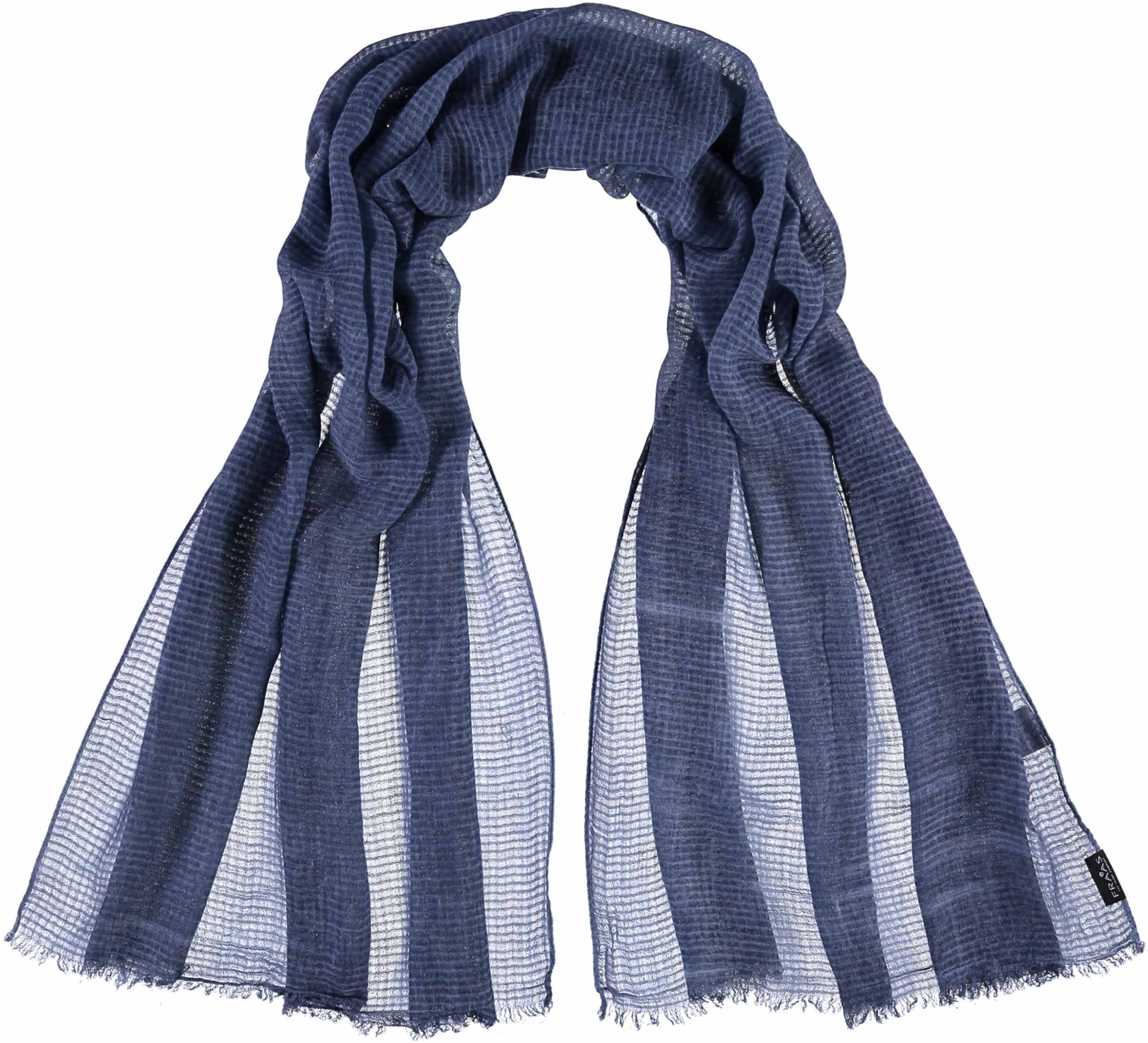 Tonal Grid Solid Woven Scarf Wrap