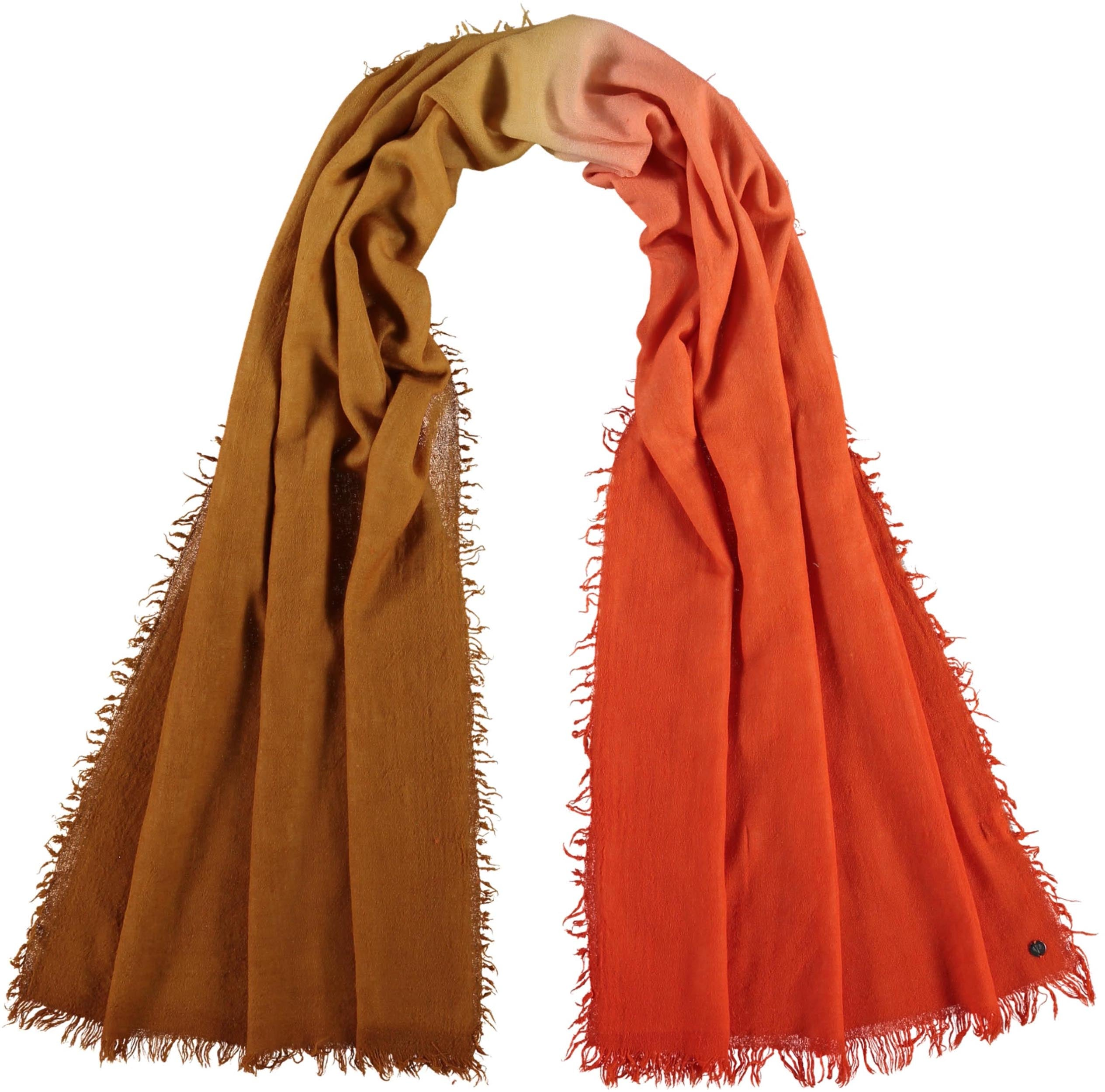 Ombre Lightweight Wool Printed Wrap Scarf