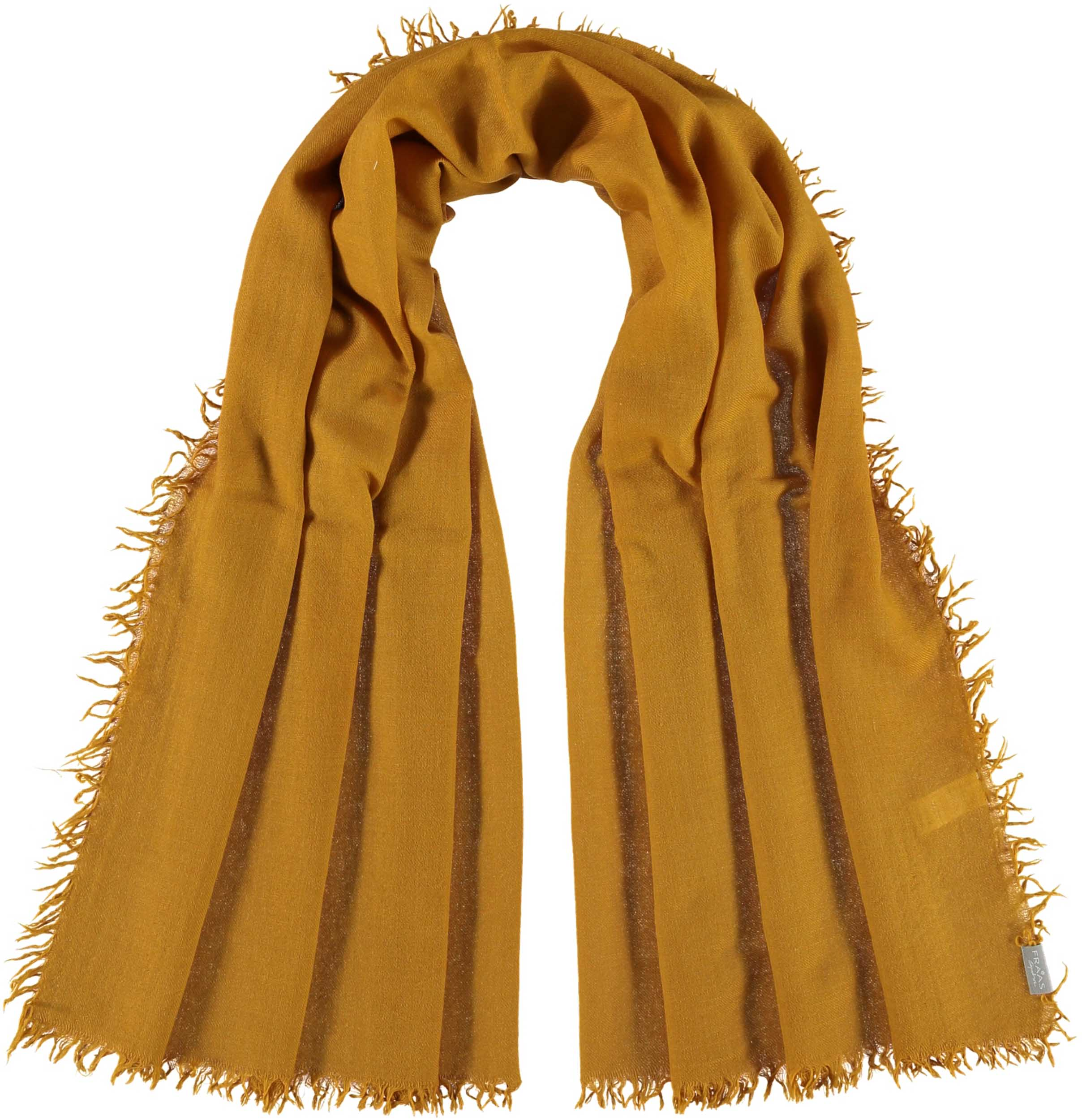 Signature Fringed Solid Lightweight Wool Silk Oversized Wrap