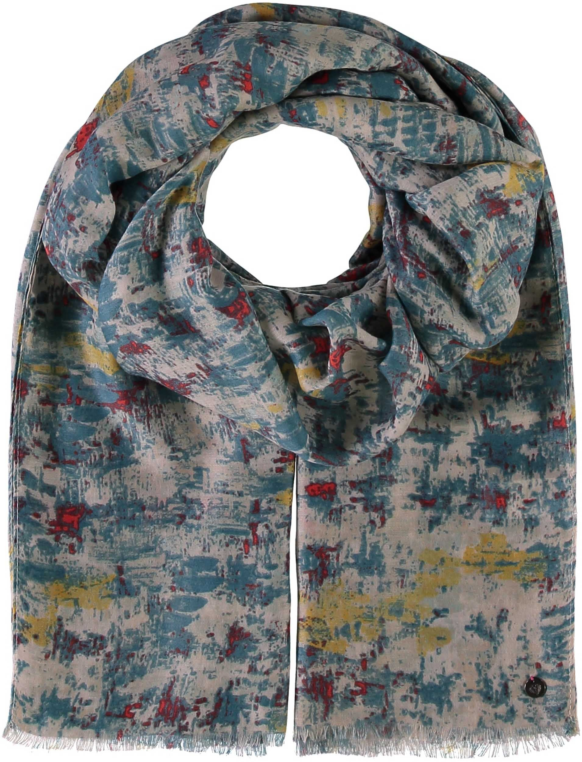 Optical Illusion Polyester Print Scarf