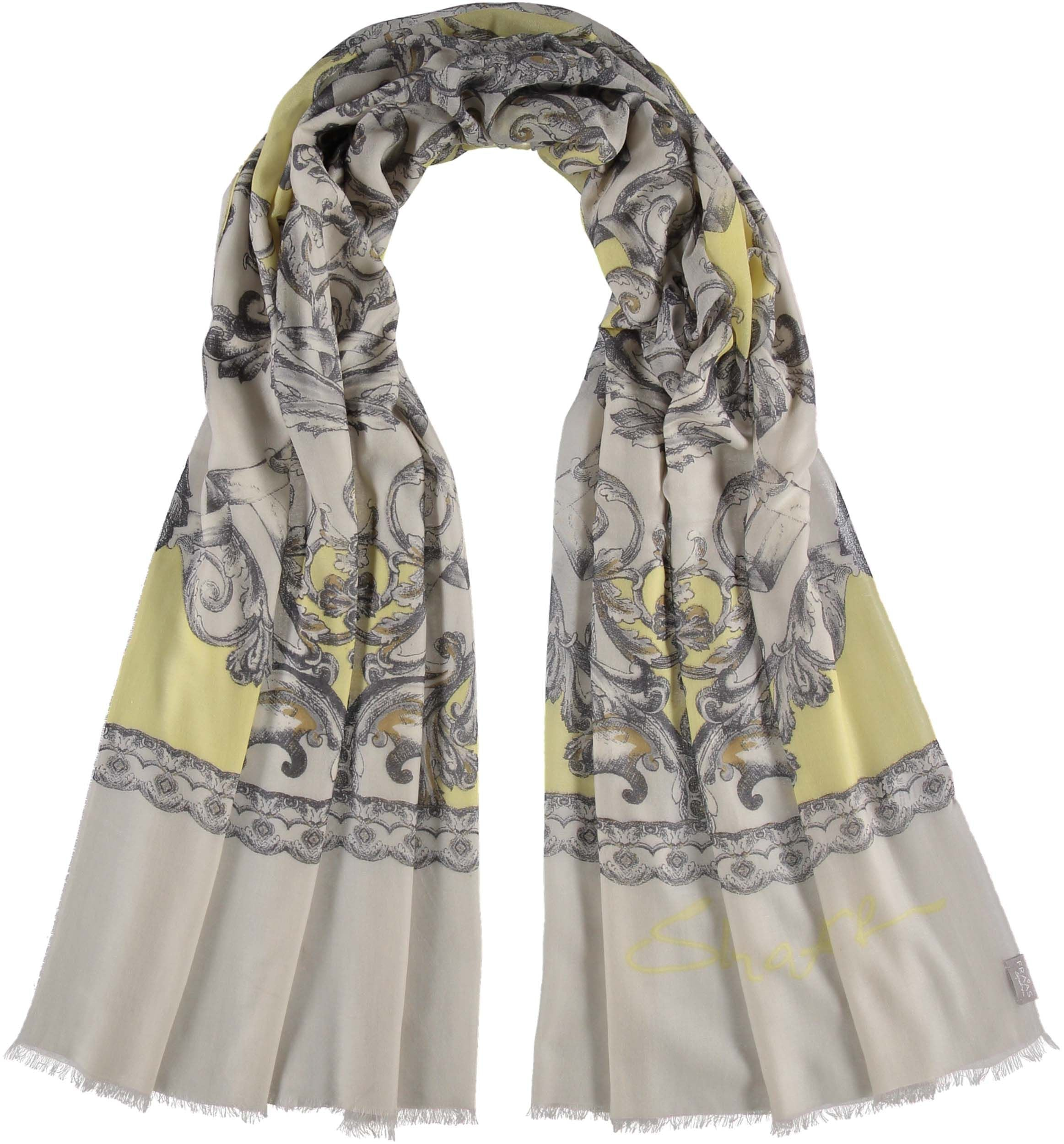 Baroque Tapestry Digital Print Cashmere Wool Scarf