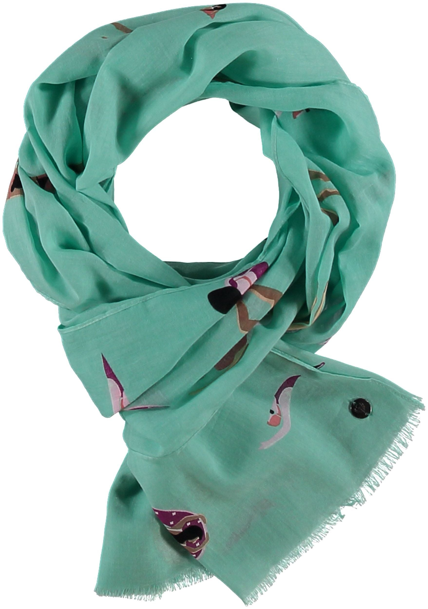 Pool Party Cotton Print Scarf