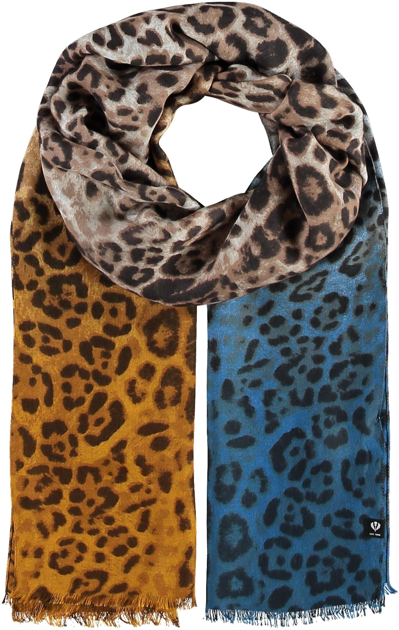 Ombre Animal Printed Viscose Scarf