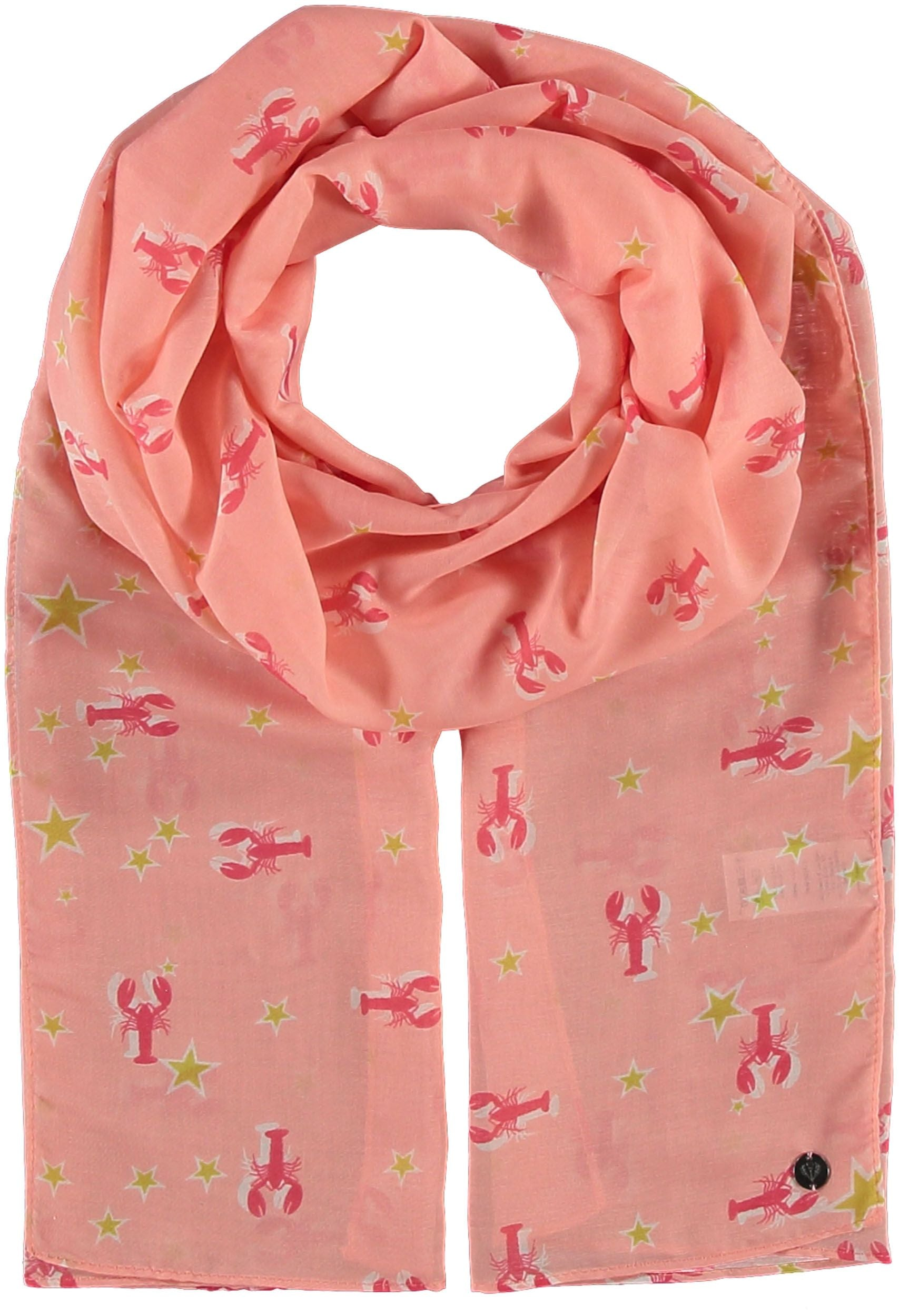 Lobster Star Polyester Print Scarf