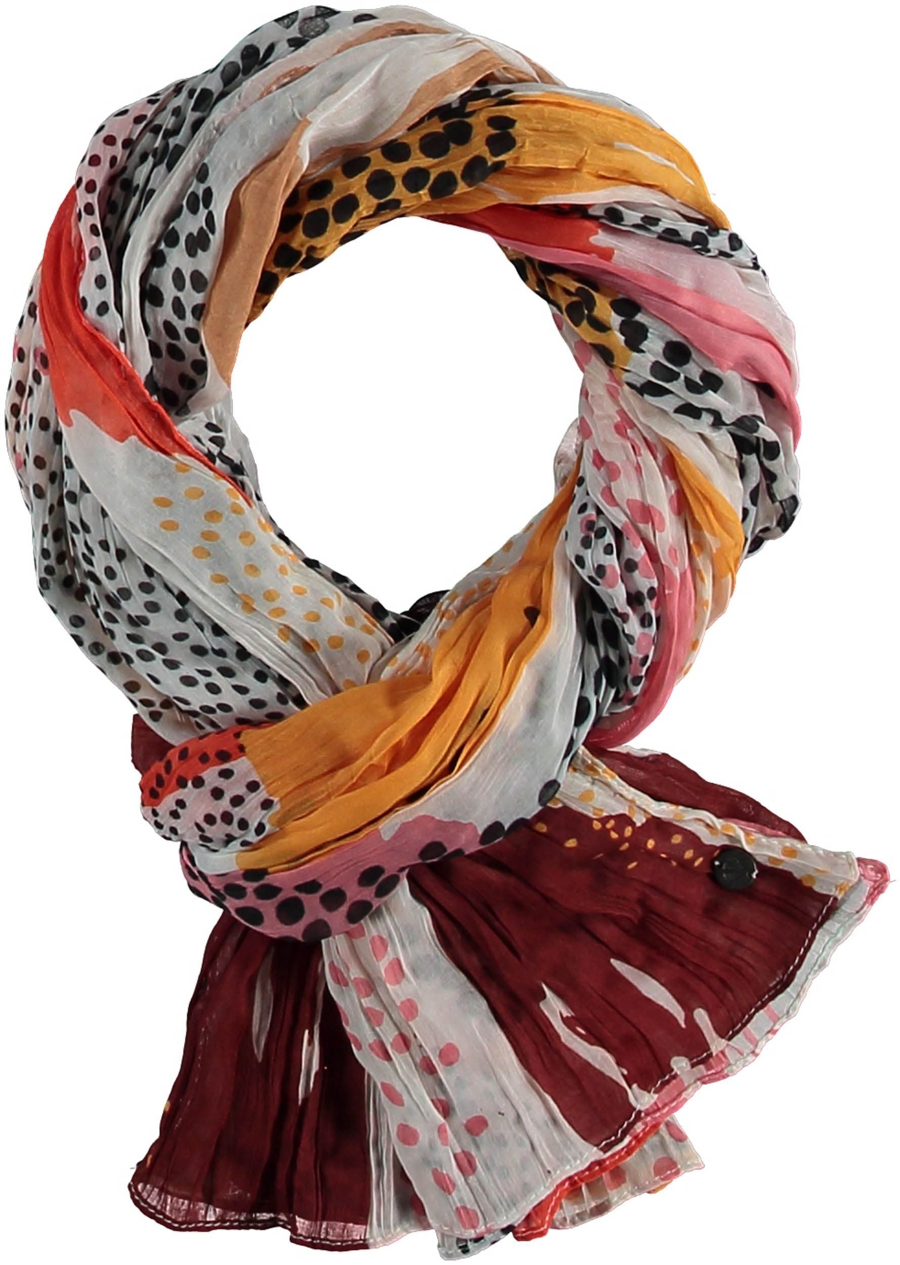 Brushed Dots Polyester Print Scarf