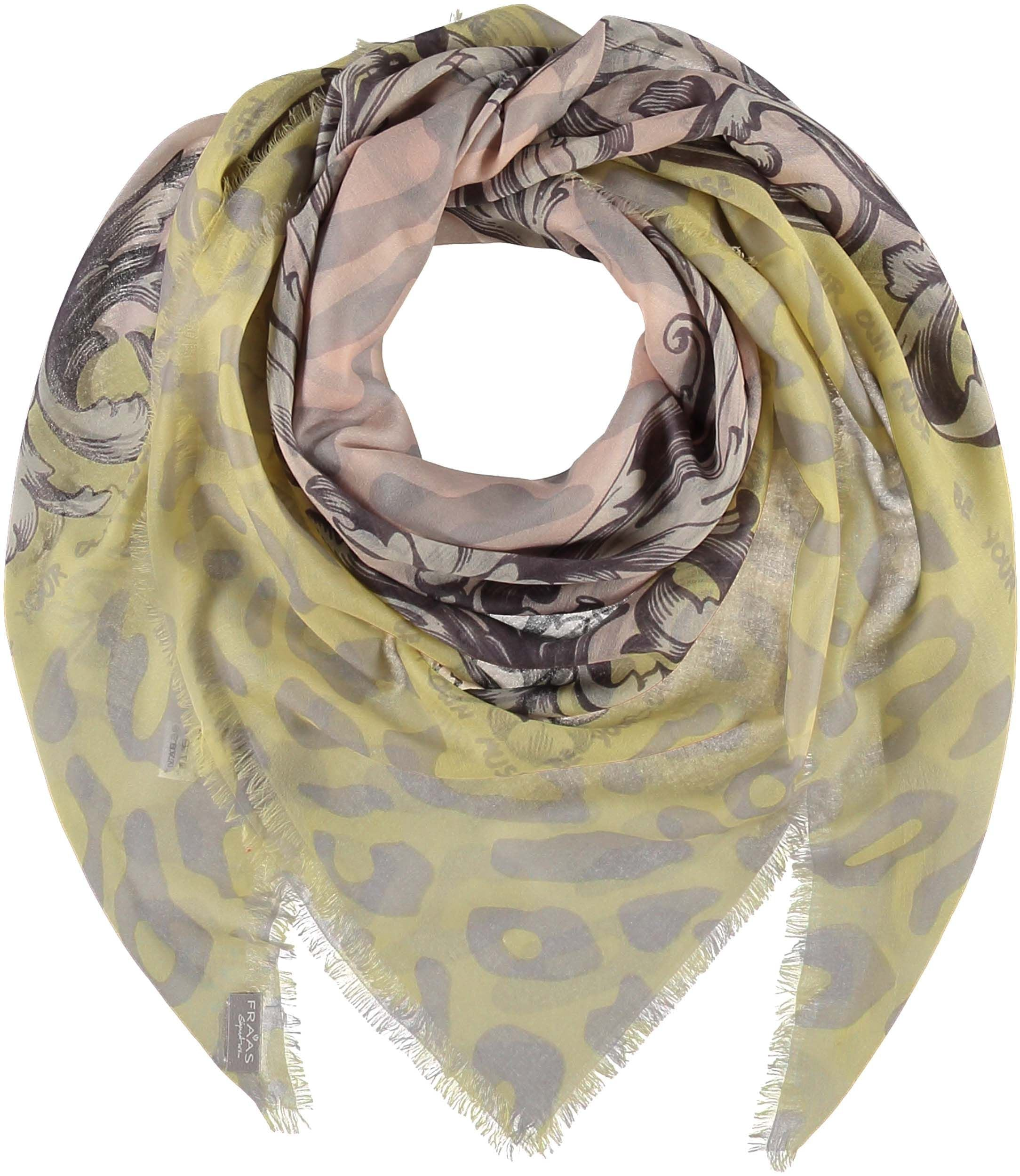 Baroque Leo Digital Print Cashmere Wool Square