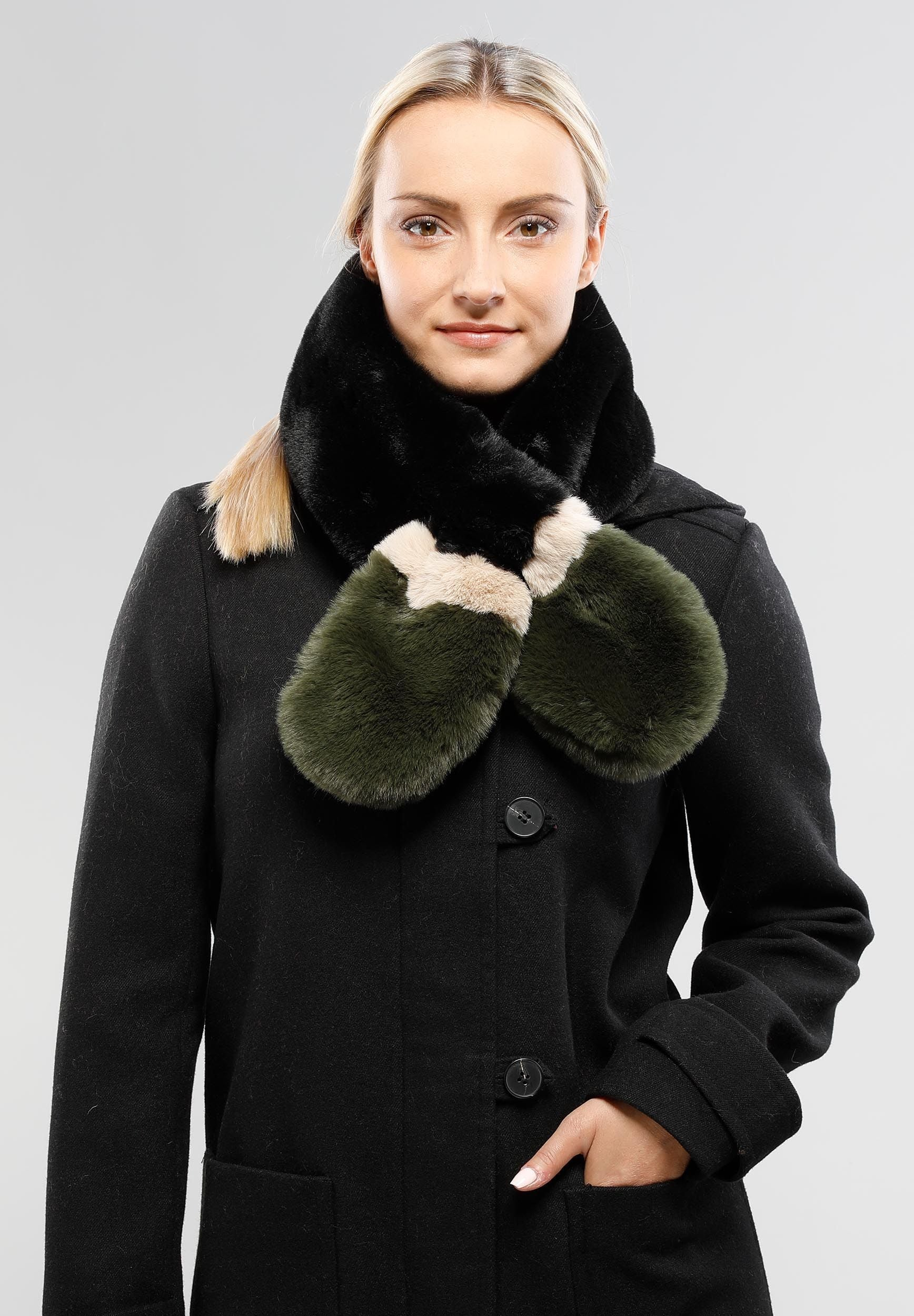 FRAAS Faux Fur Pull Through Fashion Scarf