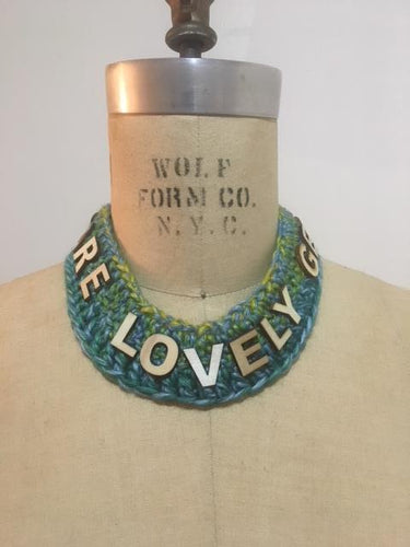 Lovely words necklace