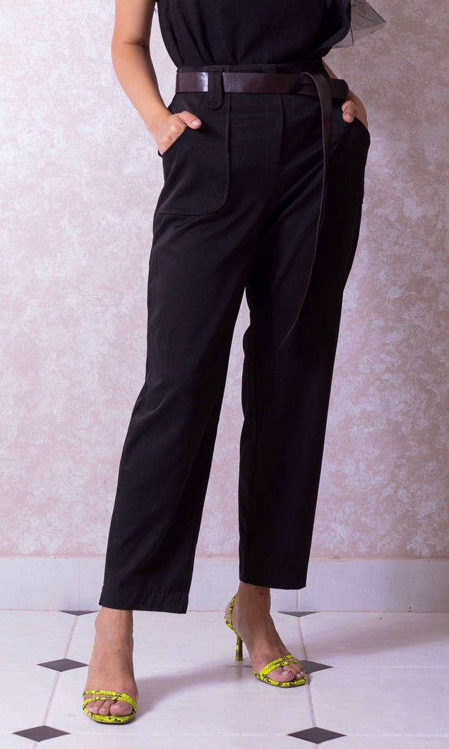 Deep Pocket Trousers with Belt