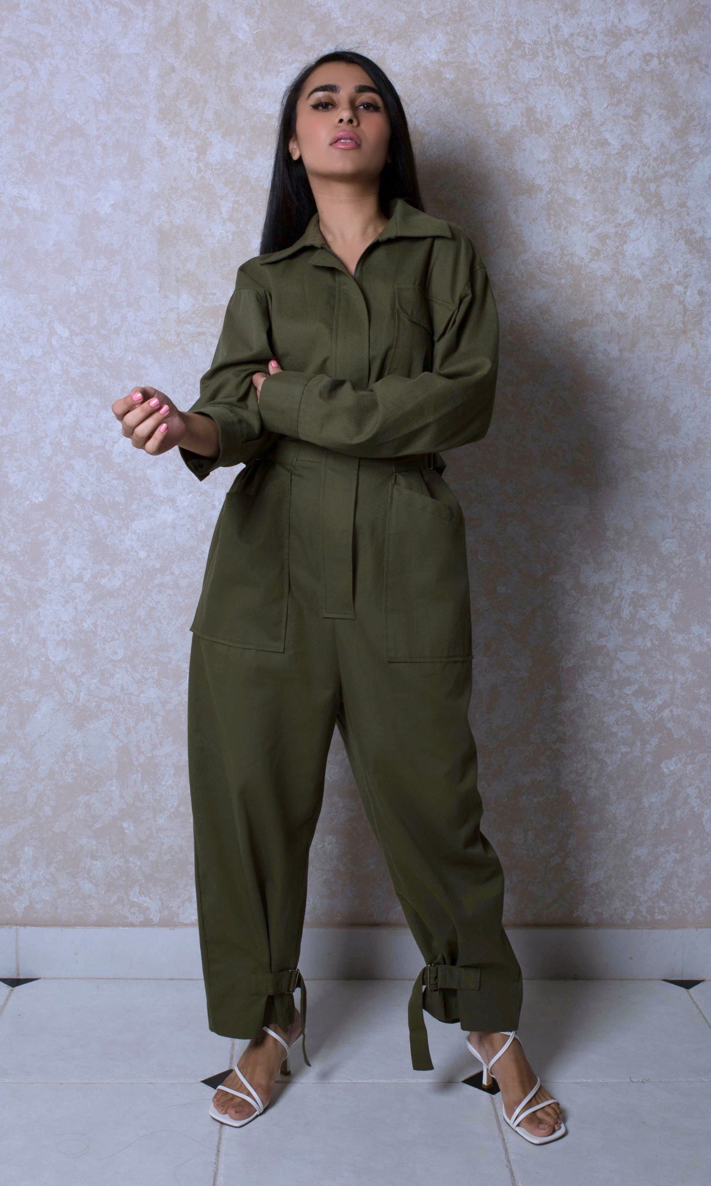 Oversized Cargo Jumpsuit