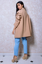 Load image into Gallery viewer, Oversized Drop Shoulder Jacket in Blush Beige