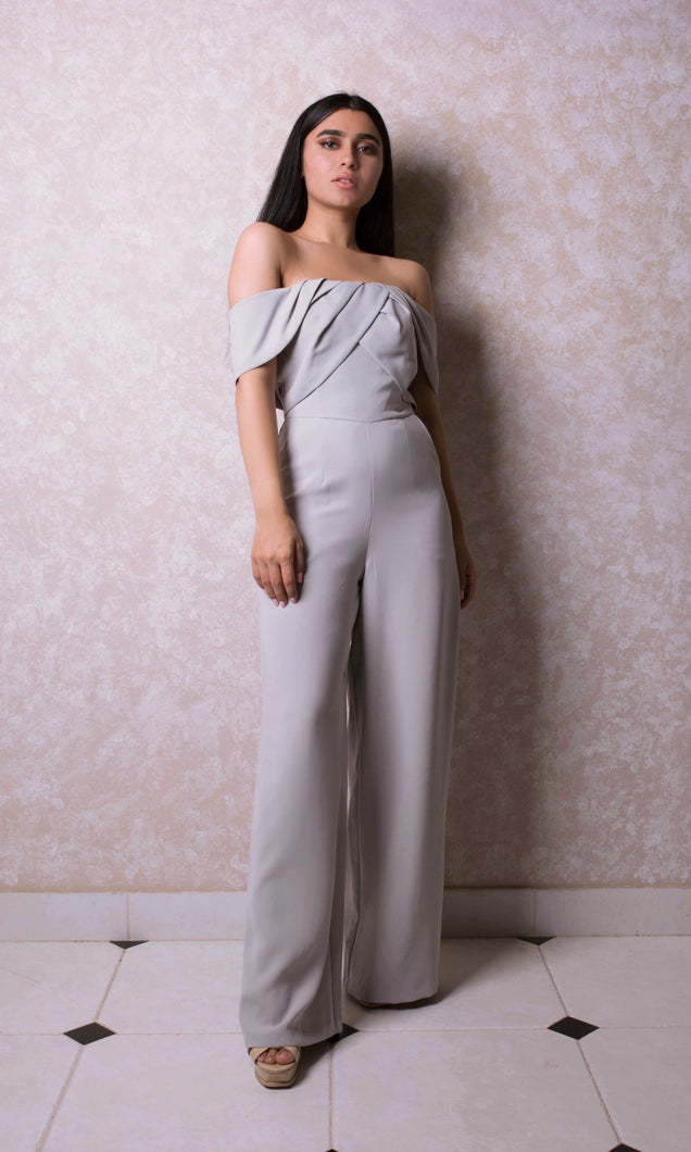 Wide Leg Off-The-Shoulder Jumpsuit