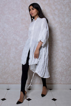 Load image into Gallery viewer, Oversized Tunic with Balloon Sleeves in White
