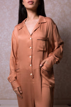 Load image into Gallery viewer, Lounging Onesie with Oversized Pockets in Caramel