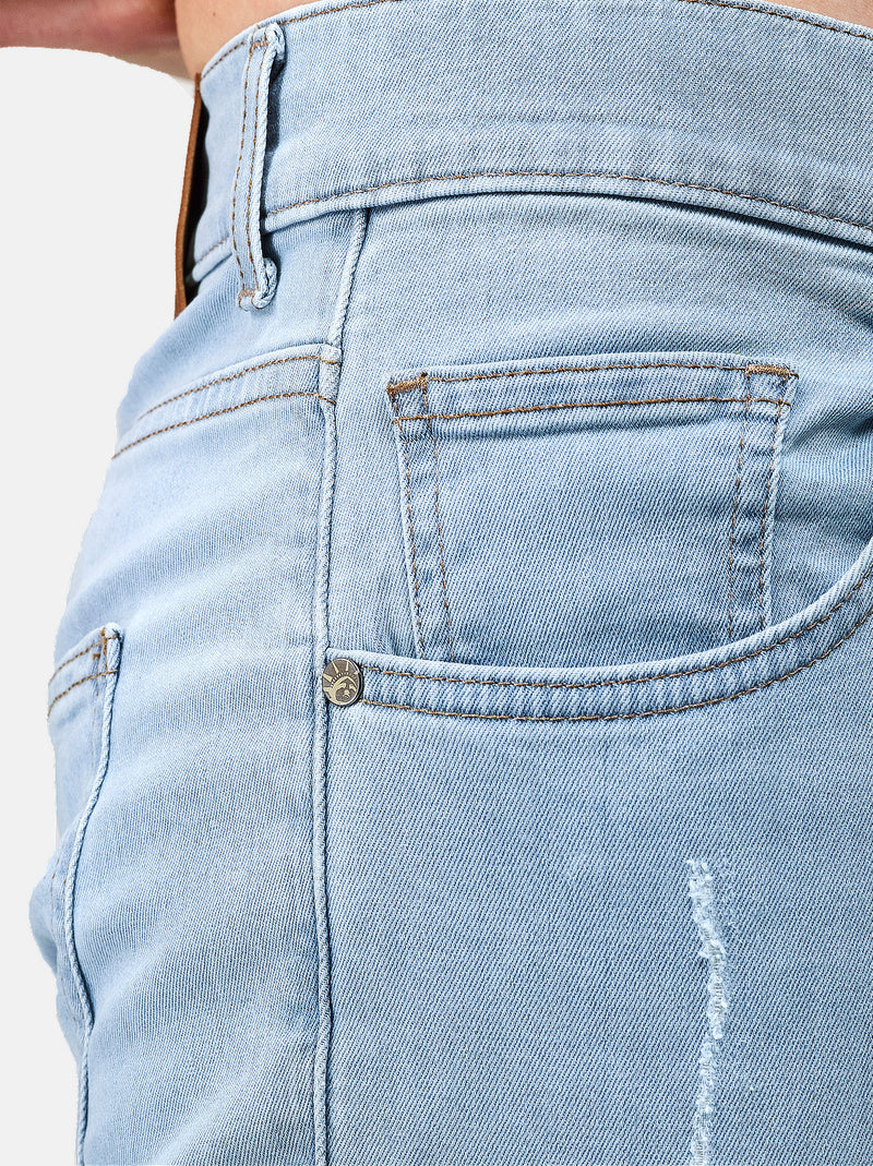 Cascais Jeans: Slim-Fit Jeans in Blau