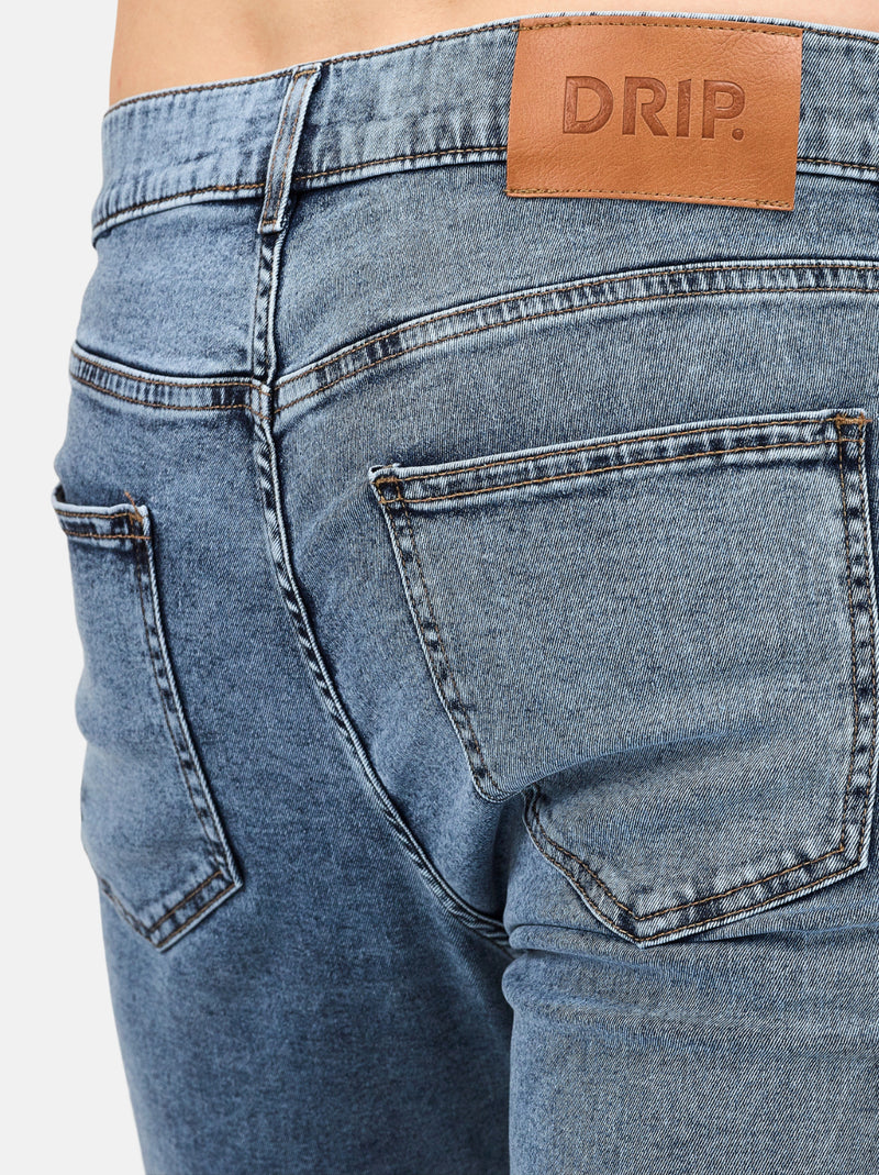 Comporta Jeans: Slim-Fit Jeans in Mid Blue