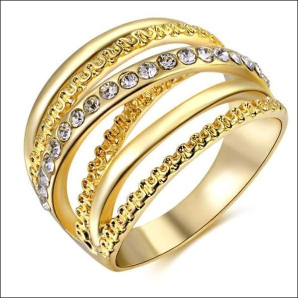 Crystal Ring Paved Setting For Engagements. - 10 / Gold