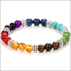 Spiritual Healing Bracelets Multiple Colors Natural Stone. - Colorful