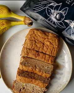 Protein Banana Bread (LOW CARB, HIGH PROTEIN 56 CALS/SLICE)