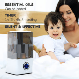 PONNYC Cool Mist Humidifier, Essential Oils Diffuser ‎–‎ 1.2 Gal‎