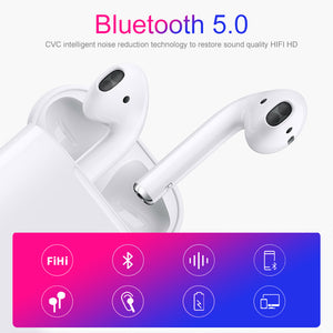 Earphones Bluetooth 5.0 TWS with Touch-Control, HD Stereo Sound, IPX7 Waterproof