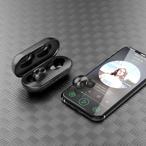 Wireless Earbuds TWS, Bluetooth 5.0, Touch Control, Charging Case, HD Stereo, Built-in Mic