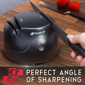 Knife Sharpener Electric - Sharpening Machine for Knives, Scissors, Screwdrivers - 3-in-1 Tool