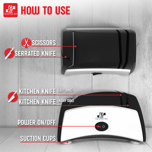 Knife Sharpener Electric 3-in-1 Tool New Design