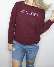 Load image into Gallery viewer, JET LAGGED- BURGUNDY