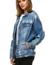 Load image into Gallery viewer, Custom Boyfriend Fit Jean Jacket