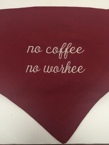 NO COFFEE NO WORKEE- Blanket