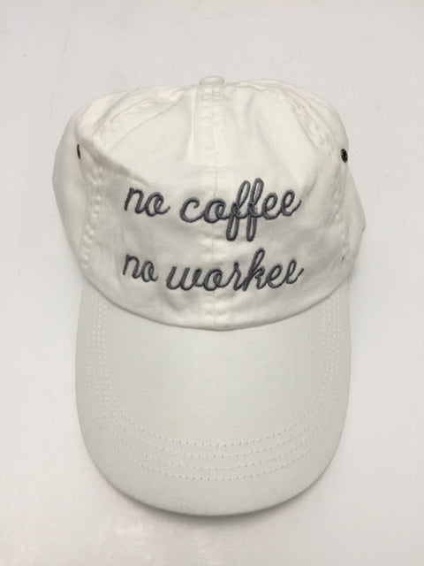 NO COFFEE NO WORKEE- White