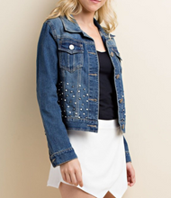 Load image into Gallery viewer, Custom Pearl Jean Jacket