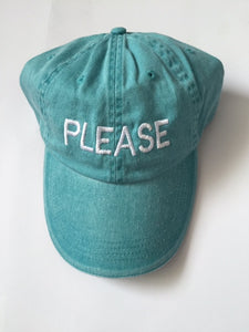 PLEASE washed out Aqua cap