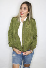Load image into Gallery viewer, Custom Bomber Jacket- Military Green