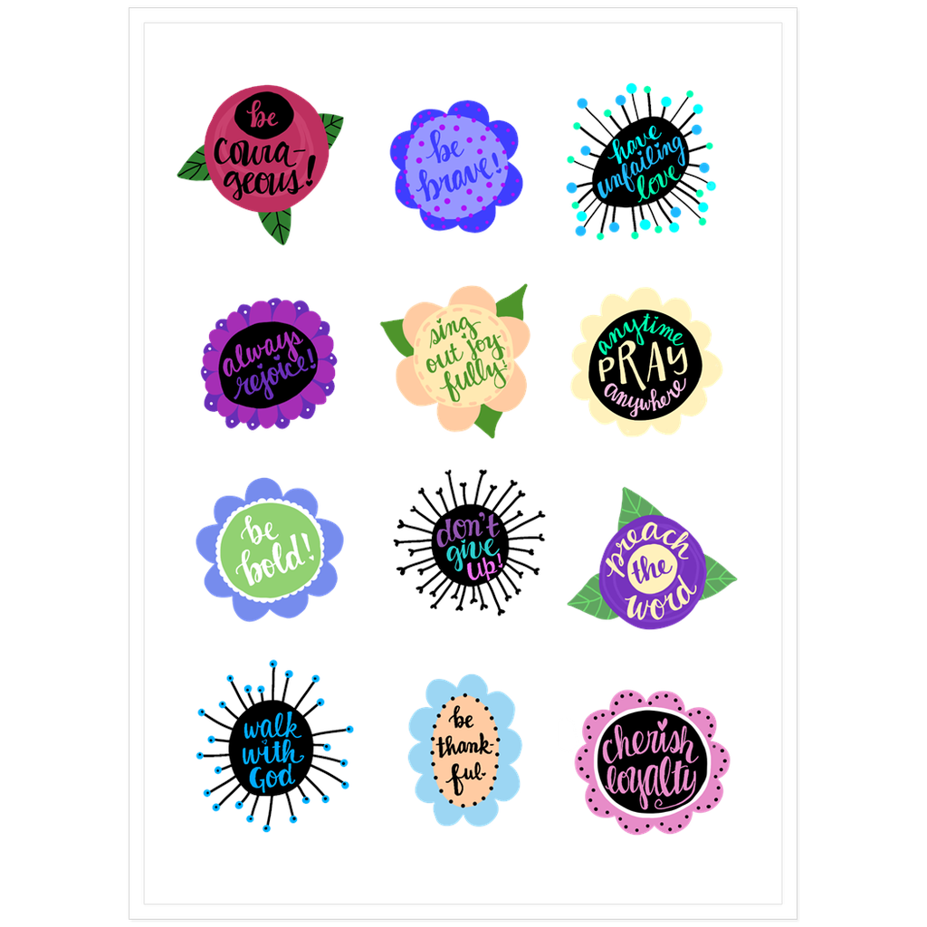 Happy Reminders Sticker Sheet