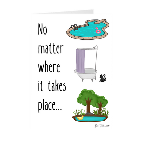No Matter Where- Baptism Card