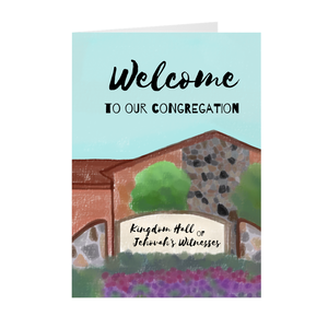 """Welcome To Our Congregation"" Greeting Card"