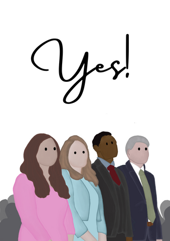 "PRINTABLE PDF- ""Yes!"" Baptism Card"