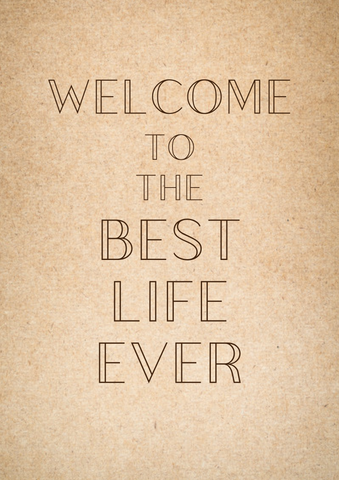 "PRINTABLE PDF- ""Welcome To The Best Life Ever"" Baptism Card- Simple"