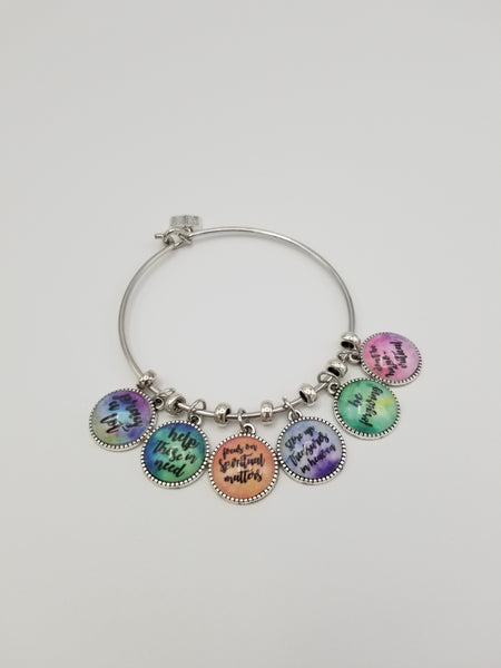 Have No Anxiety Bangle Charm Bracelet