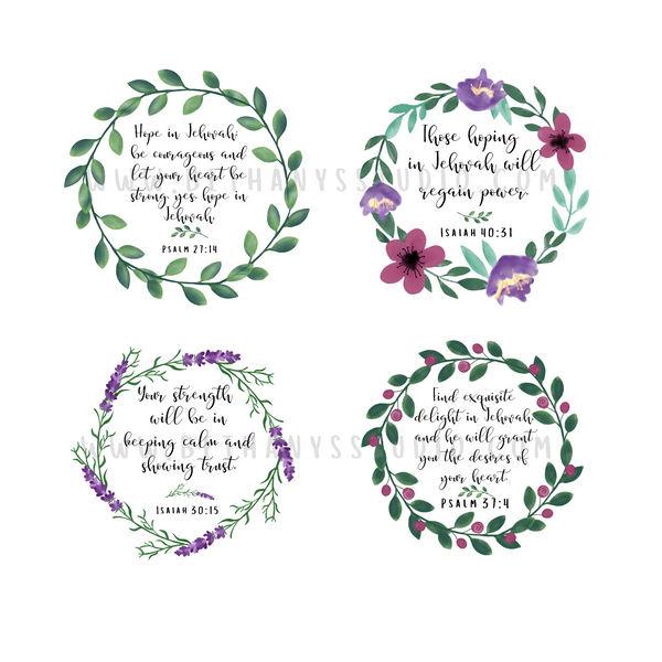 Comfort and Encouragement Scriptures Sticker Sheet