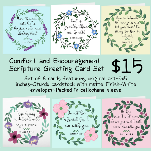 Comfort and Encouragement Card Assortment, Pack of 6